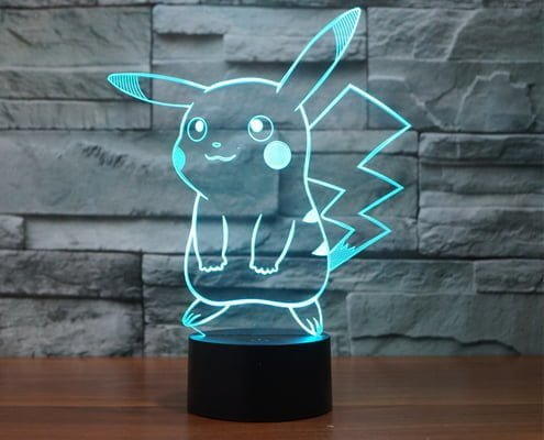 Pokemon Pikachu 3D LED Lamps
