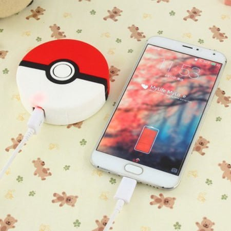 charge your phone with pokemon pokeball powerbank