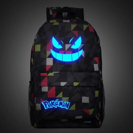 Men's Galaxy Luminous Printing Gengar Premium Backpack
