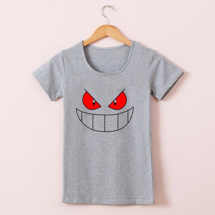 5fd60e0e9 ... Grey Pokemon Gengar Premium Quality T-shirt ...