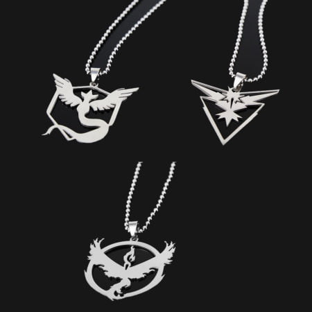Silver Pokemon GO Friendship Necklace