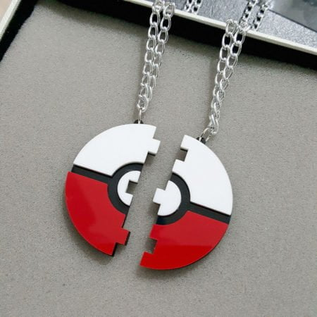 Pokemon Go Pokeball Necklace for Couple