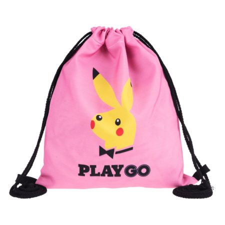 Pikachu Play GO 3D Drawstring Backpack 1