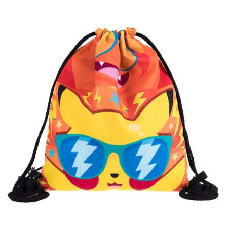 pikachu poke disco drawstring backpack alola
