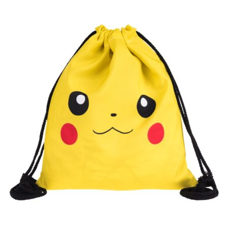 Pikachu 3D Drawstring Backpack 2