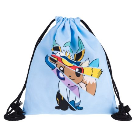 Eevee Pokemon 3D Drawstring Backpack 1