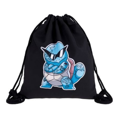 Squirtle Thug Life 3D Drawstring Backpack 1