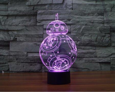 star wars story 3d led lamp bb-8