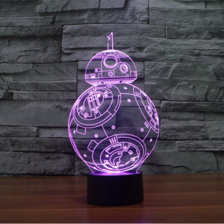 star wars story 3d led lamp bb-8